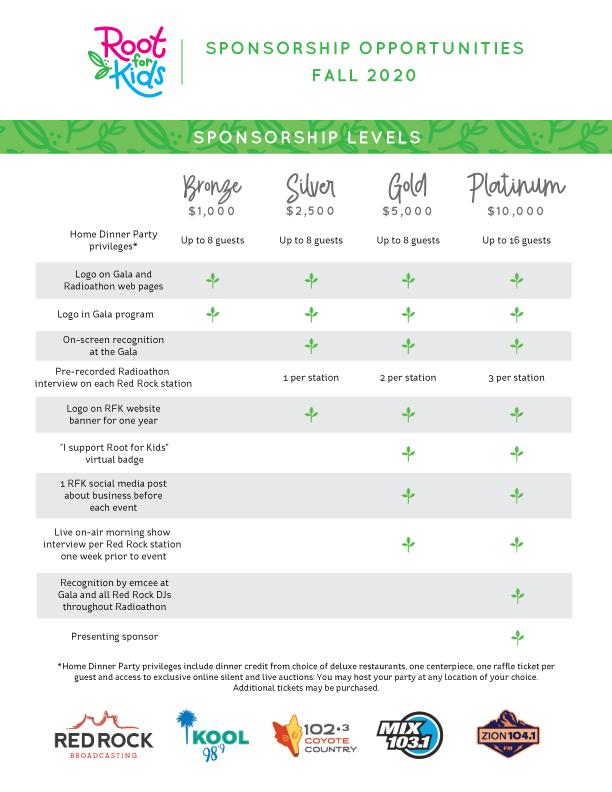 Sponsorship Levels | Root for Kids