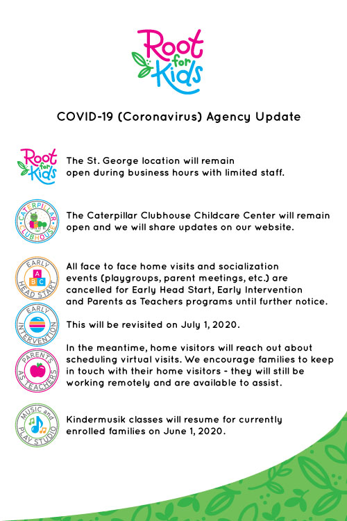 Covid-19 Agency Updates   Root for Kids