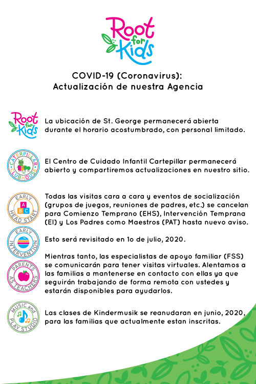 Covid-19 Agency Updates - Spanish   Root for Kids